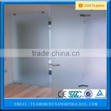 3-19mm CCC & AS/NZS2208:1996 acid etched glass for bathroom and kitchen interior glass sheet door glass etching design