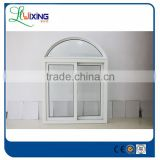 pvc Frame Material and PVC glass window,Casement Windows Type pvc arch window with grills