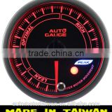 60mm white&amber LED air fuel ratio gauge / smoke lens Air /Fuel Ratio gauge with warning and peak