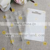 High Quality 1.5*6*9.7CM Rectangle 6 Grid Transparent Storage Case Clear Beads Display Jewelry Boxes