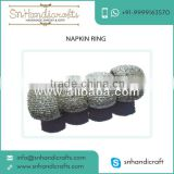 Durable Quality Hand beaded flower napkin ring for Office use