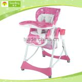 Multi-Function 3 in 1 Plastic Baby High Feeding Chair With Cover baby high chair new product