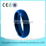 6MM Blue Tungsten Carbide Ring, Men and Women's Tungsten Ring, Dome Blue Tungsten Ring 6mm
