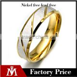 high polished plated rings 3 colors mens rings simple stainless steel fashion rings jewelry