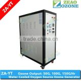 heavy duty 50G 100G 150G ozone machine used in food process as water/workshop/sterile room/equpments/tools