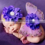 Wholesale baby Newborn Wing Photography Prop with Matching Headband