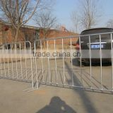 Versatile Metal Pipe Galvanized Crowd Control Barrier With Fixed or Removable Feet,Used for Road/Traffic/Concert/Event