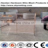 high safety temporary chain link fence with feet interlocking bar barricade(factory supply)