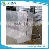 aluminum folding crowd control barrier,durable aluminum crowd control barrier used for parking space