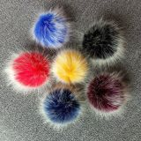 New year products fake fur ball for bag pendant women hairy pom furry ball key chain