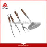 3pcs stainless steel Barbecue tool set ,barbeque tool set