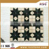 Flower culture natural marble mosaic tiles