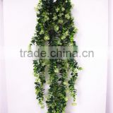 90cm tall new decoration artificial flanged plastic black green hanging bushings square EDC1602 22J30