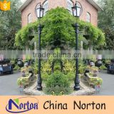 New design Swan neck lamp post pole iron NTILP-019Y