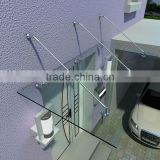 High Quality Stainless Steel Glass Canopy Fittings / Rain Shelter Systems/carport awnings