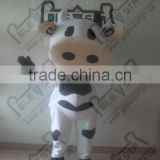 Customizable adult size black and white spots cow cartoon mascot costume