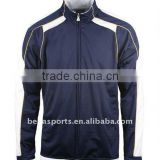 High quality soccer training jersey top,navy with white jogging uniform,custom polyester sportwear
