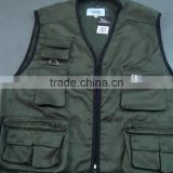various fabric fishing vest with pockets