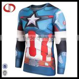 Compression t shirts for man super hero printed