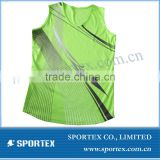 Sublimated running singlet / high quality running vest / shirt for running