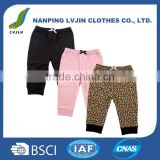100%Cotton Material and Girls Gender High Quality Baby Girls' 3 Pack Ankle Pant,PP pants baby trousers