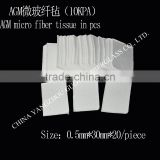 different size of AGM micro fiber tissue in pieces