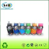 2014 Newest stainless steel baby feeding bottles with dust-proof lid and silicone sleeve
