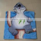 100% cotton baby poncho with reactive printing