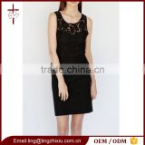 Sweetheart Modern Office Lady Formal Black Peplum Lace Dress