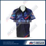 polo shirt with button zipper design your own dye sublimation polo shirt custom free shipping