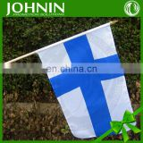 cheap promotional 30x45cm waving national hand finnish flag