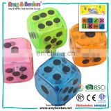 Cheap wholesale different colored clear 30mm big plastic dice
