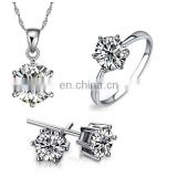 Fashion cushion diamonds platinum jewelry set