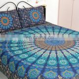 Hippie Mandala Cotton Tapestry Bohemian Wall Hanging Yoga Mat Beach Throw Dorm Decor Roundie From India