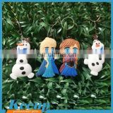 Eye-catching Personalized customize 2D PVC keychain/Soft Rubber cute girl shaped PVC keychain