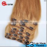 New design Dolche 8 inch clip-in human hair extensions