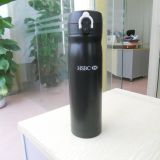 Personal design 500ml Black color stainless steel vacuum water bottle with Bounce cap