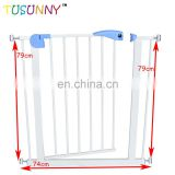 Provides safety in extra-wide spaces metal baby safety gate