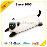 Novelty cute comfortable relax black & white plush cotton animal cat shaped cushion