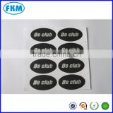 black round PVC label sticker