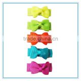 Yiwu hair accessories factory wholesale dog hair bows, baby infant mini bowknot hair clips