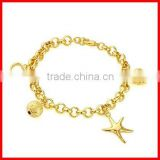 fashion starfish charm bracelet