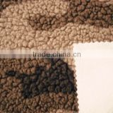 micro-polar fleece with knitted fabric composite/animal printed polar fleece fabric/composite polar fleece
