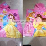 Snow White bath towel kids Hoodeed Towel Children Cinderella Tangled Beach Towel baby Girls Cloak bathrobe