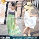 Junior Girls Summer Dress Bohemian Pattern Lace Dress Children Maxi Dress Wholesale