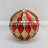 2016 easter handcrafts crafts christmas decoration supplies red gold glitter painting plastic ornamnets ball