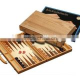 deluxe backgammon& inlaid wood game set