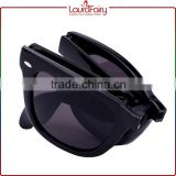 Laura Fairy Popular Fashion Hot Selling High Quality Fold Black Frame Plastic Sunglasses                                                                         Quality Choice