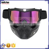 BJ-MG-022 Wholesale Motorbike Polycarbonate Goggles Antiskid Stripe Face Protective Goggles Mask Frame TPU
