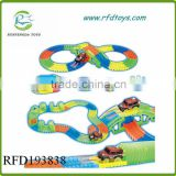 Electric race track car luminous toys twister trax neon glow in the dark track